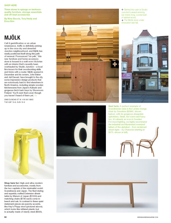 Mjolk in Design Lines Magazine