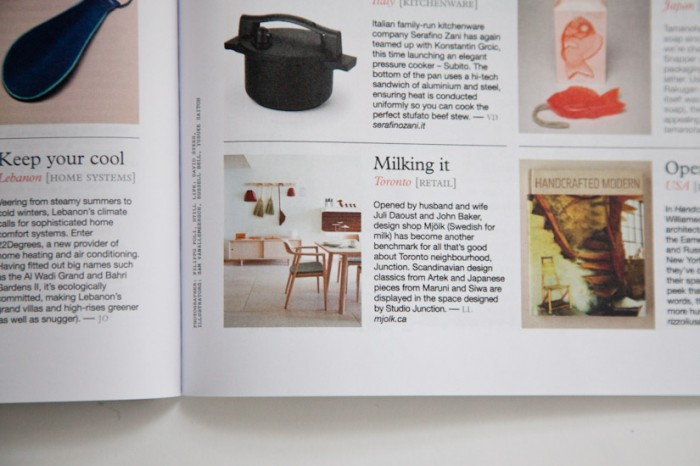 Mjolk in Monocle